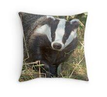 Being a badger Throw Pillow