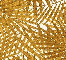Gold Foil Palm Leaves by Iveta Angelova