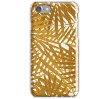 Gold Foil Palm Leaves iPhone Case/Skin
