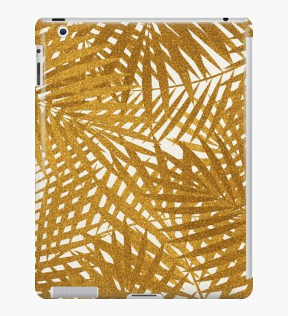 Gold Foil Palm Leaves iPad Case/Skin