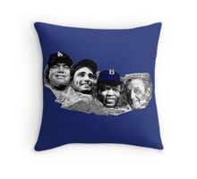 Dodgers Mt. Rushmore Throw Pillow