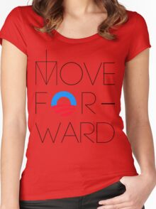 Move Forward Women's Fitted Scoop T-Shirt