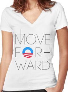 Move Forward Women's Fitted V-Neck T-Shirt