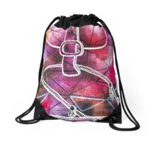 Watercolor Colorful Backpack Drawstring Bag