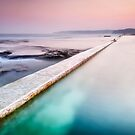 Swimmer of Merewether Pool by Michael Howard