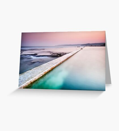 Swimmer of Merewether Pool Greeting Card