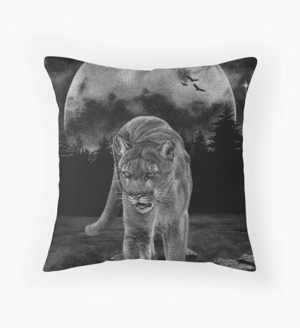 Midnight Patrol Throw Pillow