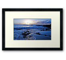 Blue Beach Sunrise Framed Print