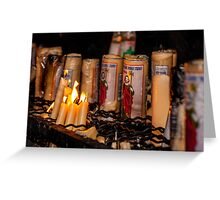 Candles for Saint Jude Greeting Card