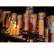 Candles for Saint Jude Photographic Print