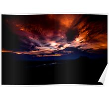 Sunset over Canberra Poster