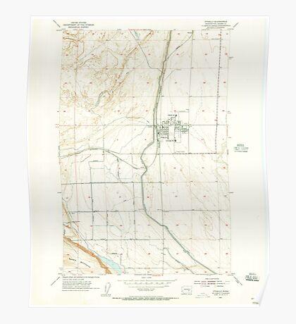 USGS Topo Map Washington State WA Othello 243031 1954 24000 Poster