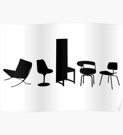 Architect-designed Chairs 20th Century Poster