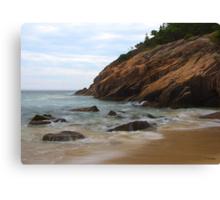 Rocks on the Shore Canvas Print