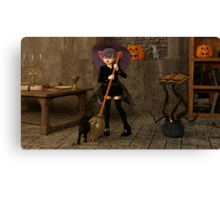 Halloween - The Life of a Witch Canvas Print