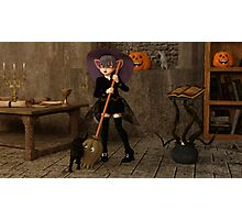 Halloween - The Life of a Witch Photographic Print