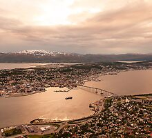 Midnight Sun Over Tromsø, Norway 2012 by YorkStCreative