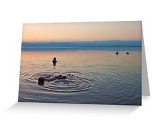 Floating at the lowest point on Earth Greeting Card