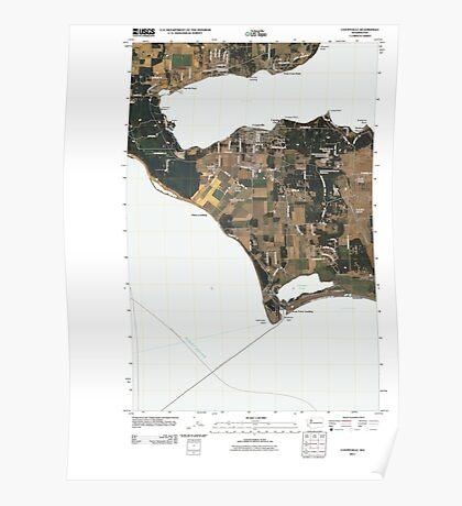 USGS Topo Map Washington State WA Coupeville 20110425 TM Poster