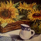 Tony's sunflowers by Beatrice Cloake