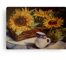 Tony's sunflowers Canvas Print