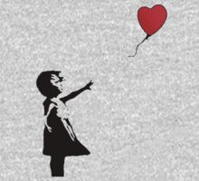 Girl With The Red Heart Balloon by impulsiVdesigns