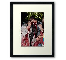 Zombie lust Framed Print