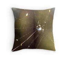 Sunlight and Dew Drops. Throw Pillow