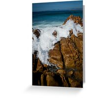 Granite Coast line, Tasmania Greeting Card