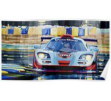 McLaren BMW F1 GTR Gulf Team Davidoff Le Mans 1997 Poster