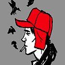 Red Hunting Cap by lynchboy