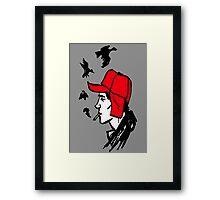 Red Hunting Cap Framed Print