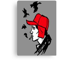 Red Hunting Cap Canvas Print
