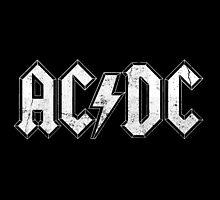 AC/DC Vintage Rustic Logo by robertnorris
