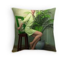 Potted Palm Tree Throw Pillow