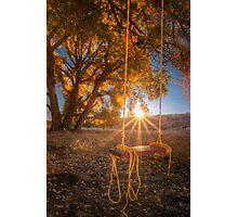 Sunset Swing Photographic Print