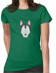 Cute Dog Face Womens Fitted T-Shirt