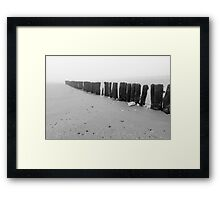 All roads lead to the sea Framed Print