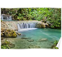 Calming flowing waterfall, Vanuatu, South Pacific Ocean Poster