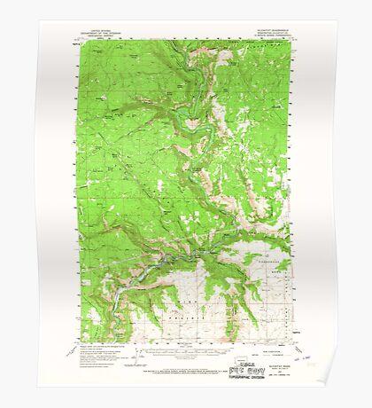 USGS Topo Map Washington State WA Klickitat 241788 1957 62500 Poster