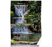 Calming flowing waterfall and pool, Vanuatu, South Pacific Ocean Poster