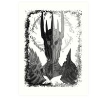 Two faces of Sauron Art Print