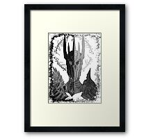 Two faces of Sauron Framed Print