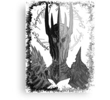 Two faces of Sauron Metal Print