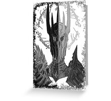 Two faces of Sauron Greeting Card