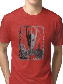 Two faces of Sauron Tri-blend T-Shirt