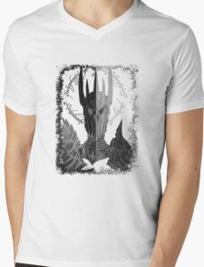 Two faces of Sauron Mens V-Neck T-Shirt