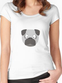 Cute Dog Face Women's Fitted Scoop T-Shirt