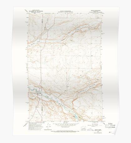 USGS Topo Map Washington State WA Marlin 242196 1968 24000 Poster