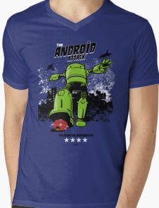 ANDROID ATTACK Mens V-Neck T-Shirt
